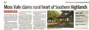 Moss Vale claims rural heart of Southern Highlands